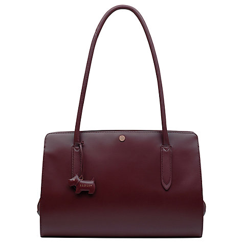 radley Liverpool Street Leather Medium Tote Bag, Burgundy