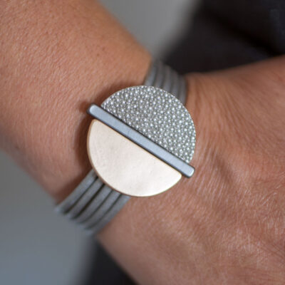 Dansk Smykkekunst Sheena Bracelet Mix Plating Grey Gold