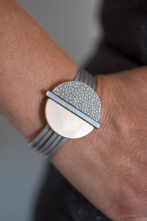 Dansk Smykkekunst Sheena Bracelet Mix Plating Grey Gold