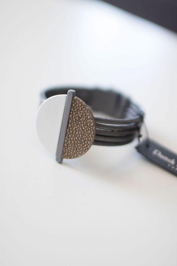 Dansk Smykkekunst Sheena Bracelet Mix Coffee Gold