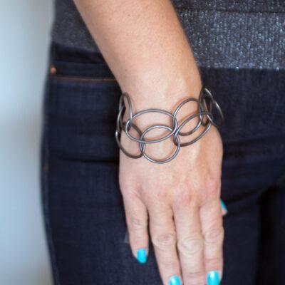 Dansk Smykkekunst Tempeste Bracelet Hematite Plating