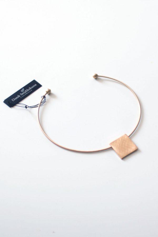 Dansk Smykkekunst Theia Square Necklace Gold Plating