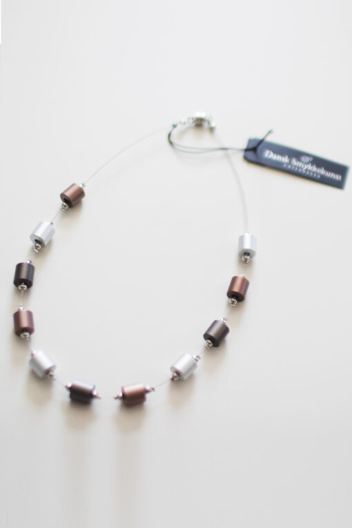 Dansk Smykkekunst Thelma Simple Necklace Coffee Gold Plating