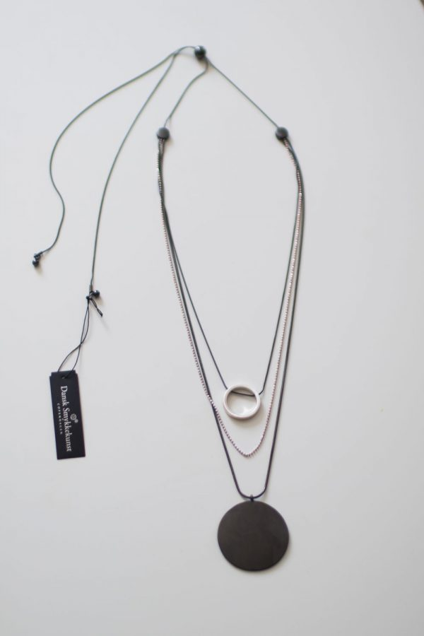 Dansk Smykkekunst Vanity Long Necklace Hematite Plating